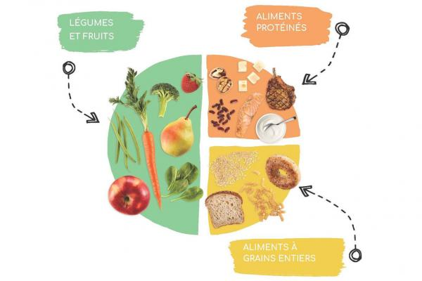 The balanced plate from Canada's Food Guide: Cycle 2