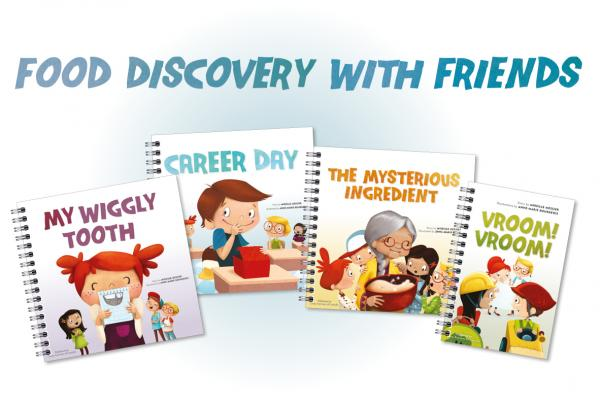 Food Discovery with Friends book series covers.