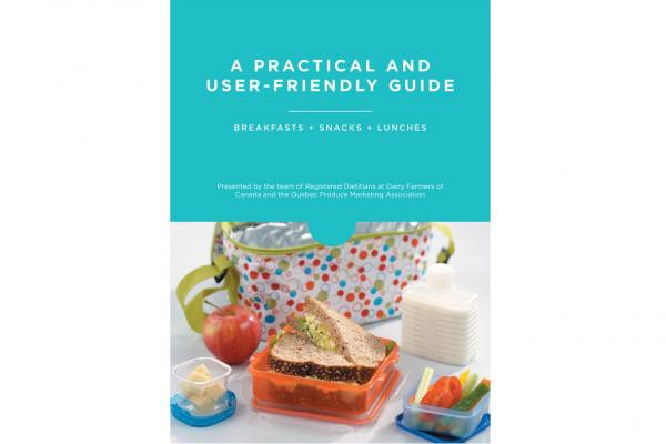 guide with ideas for breakfasts, snacks and lunches