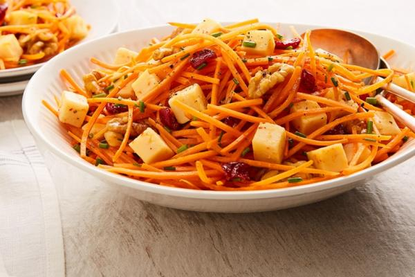 carrot cranberry gouda salad