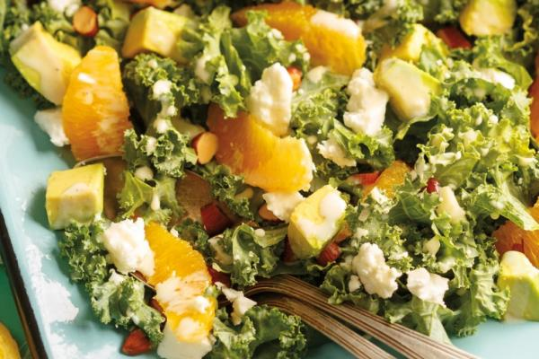 citrus kale avocado salad