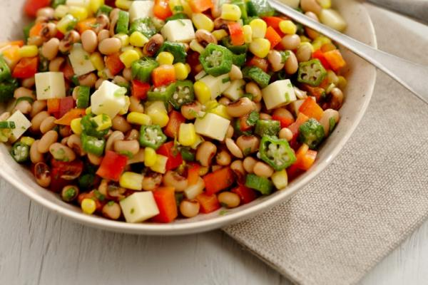 corn okra and black eyed pea salad