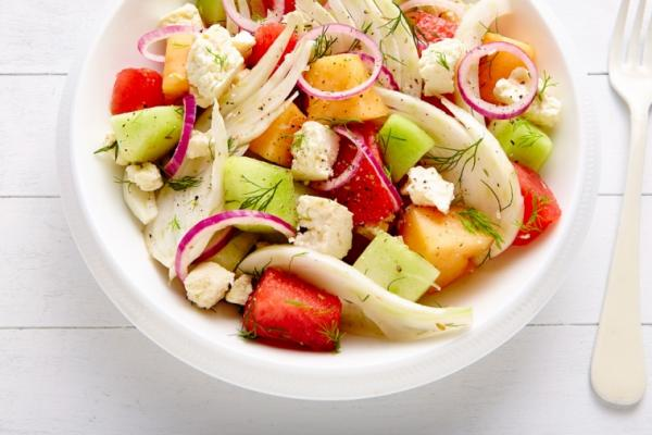 fennel melon and feta salad