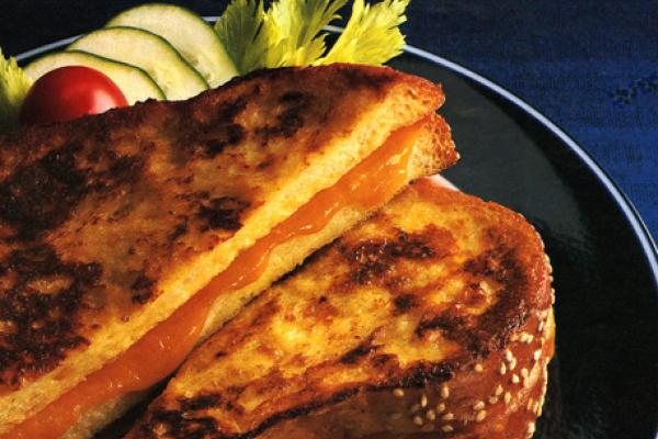 french toasted cheese sandwiches