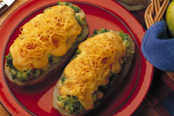 hot stuffed cheddar potatoes