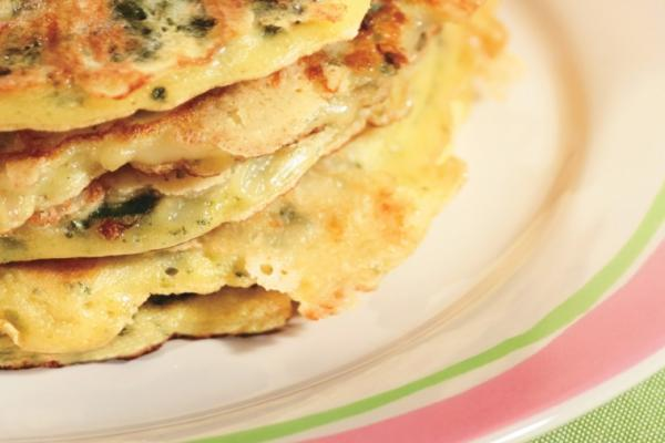 nan s spinach cheese pancakes