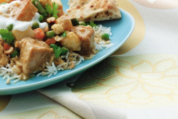 super fast chicken and vegetable curry