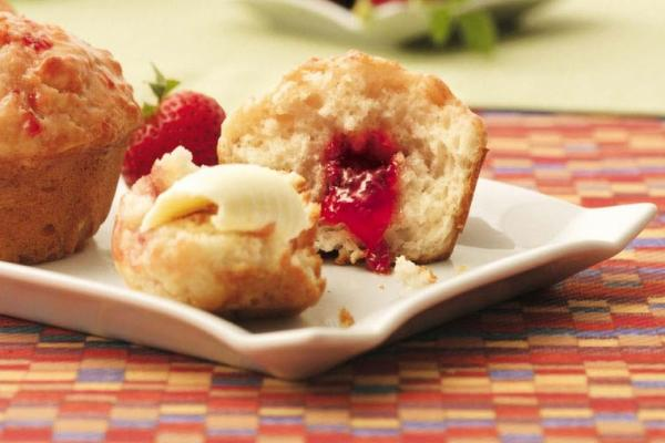 yogurt strawberry jam jam muffins