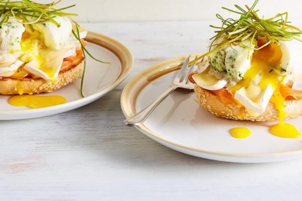 One of our favourite egg recipes: Smoked salmon & Brie eggs Benedict