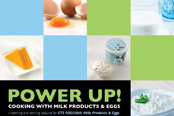 Cover of teacher guide with milk products and eggs