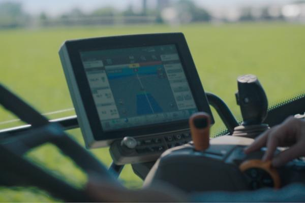Screen view of a smart tractor