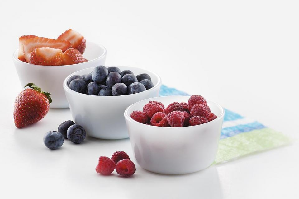 Berries: Strawberries, blueberries and raspberries