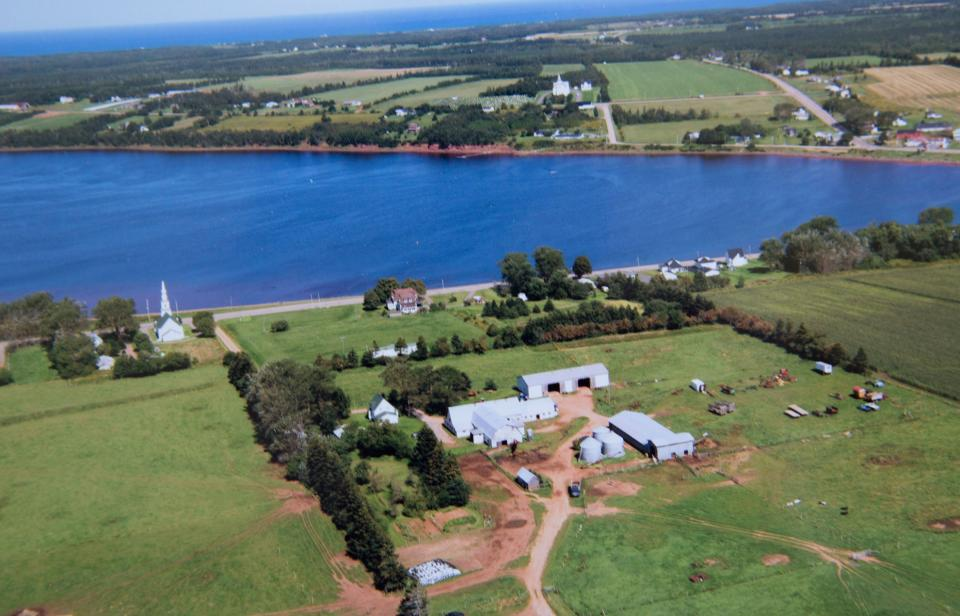 The MacInnis Brothers Farm, aerial view