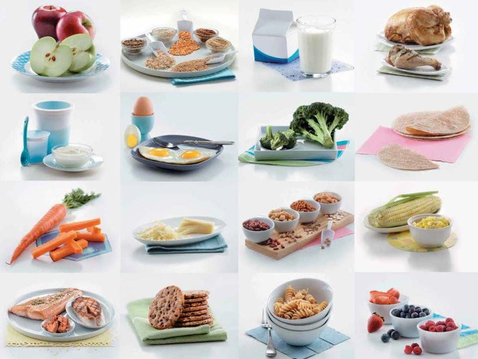 Food model cards collage
