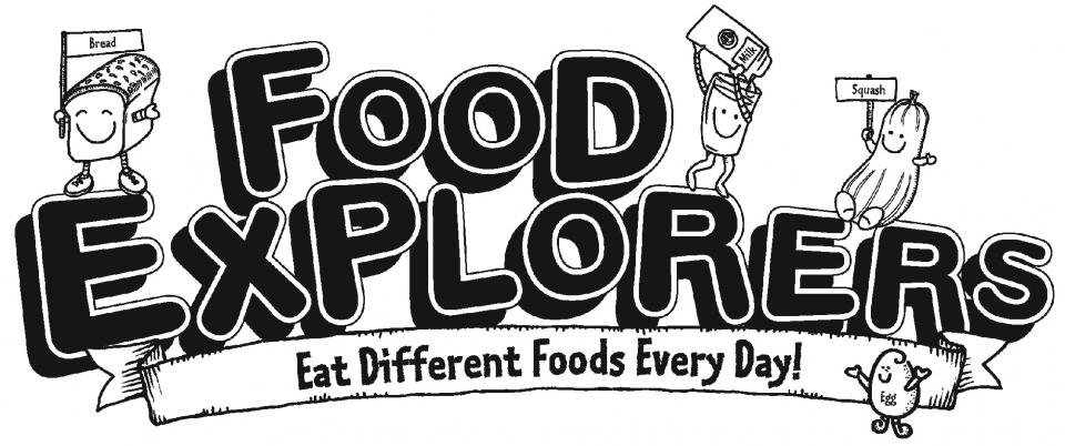 "Image of program title ""Food Explorers. Eat Different Food Every Day!"""