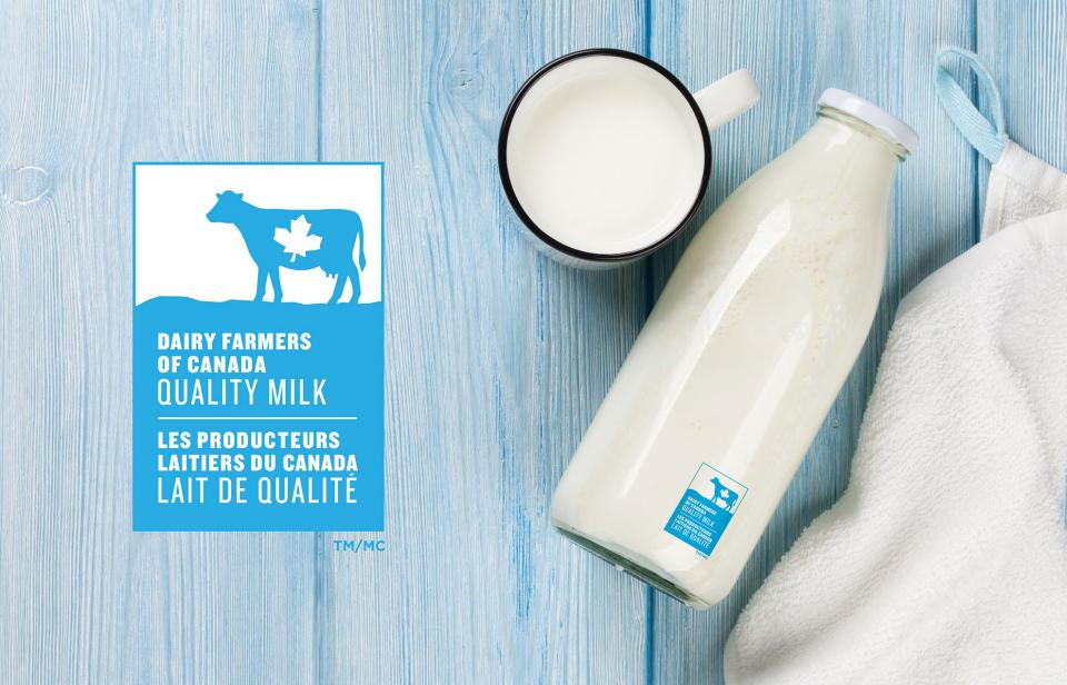 The Dairy Farmers of Canada logo is a simple way to identify products made with 100% Canadian milk and dairy ingredients.