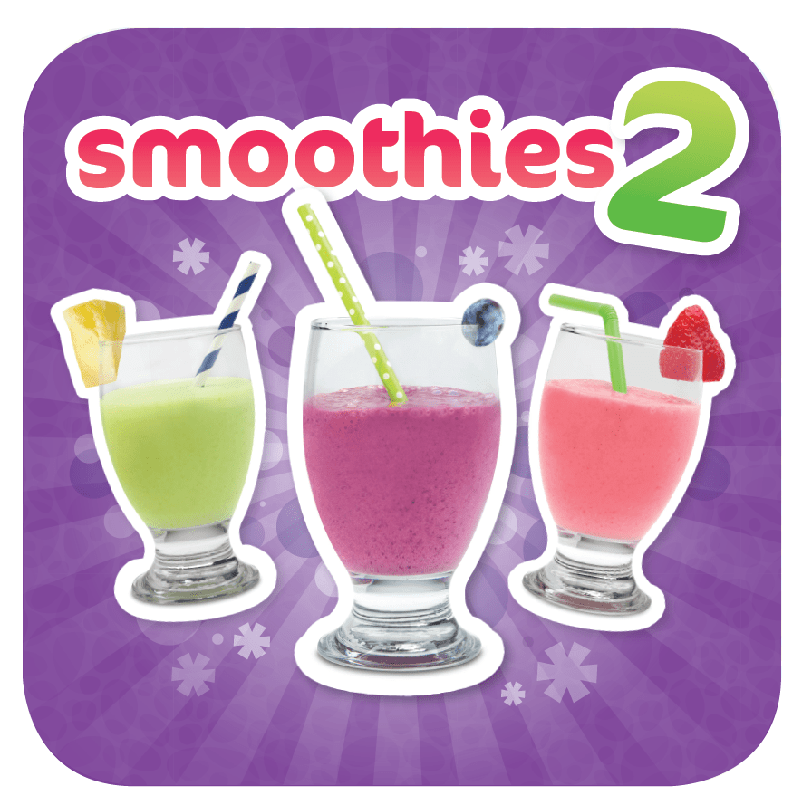 Smoothies 2 cover page with 3 smoothies