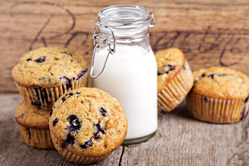 Muffins and milk