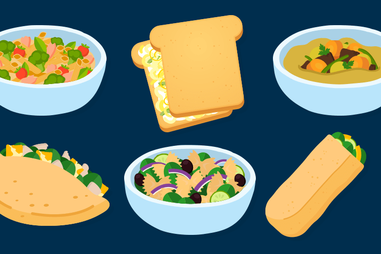 Examples of main dishes (presented in the video)