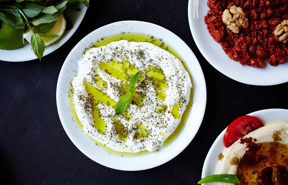 Turkish meze appetizer made with yogurt