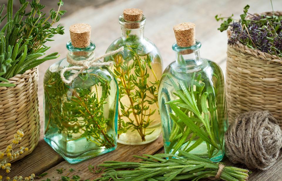 Thyme and Rosemary infused in oil