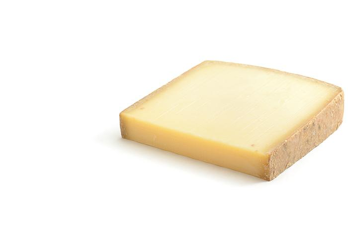 Slice of hard cheese