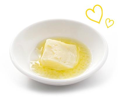 Melting butter in bowl