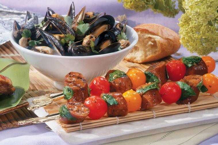 bbq steamed asian mussels