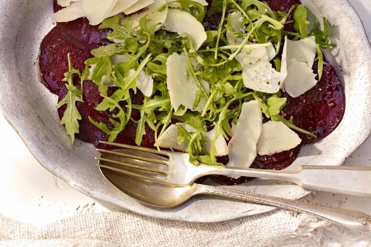 beet carpaccio with parmesan