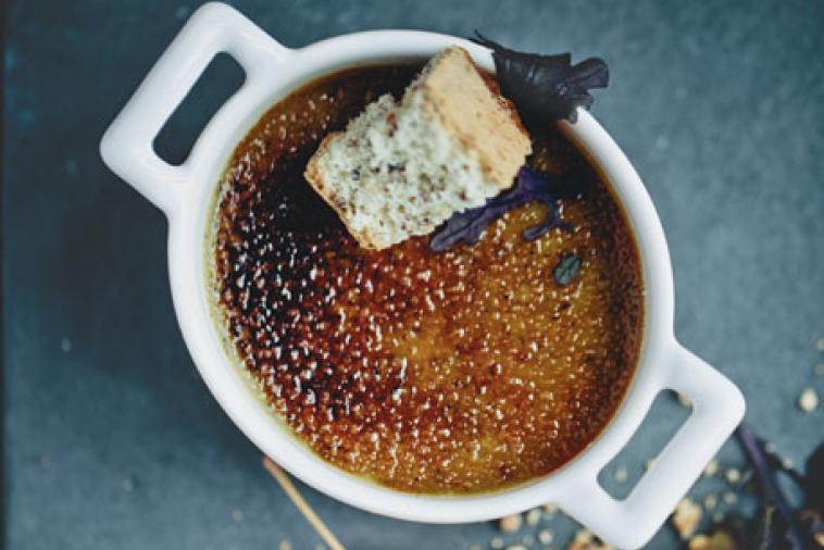 canadian blue cheese creme brulee