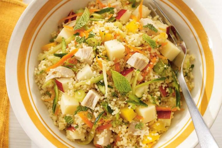 chicken vegetable and gouda couscous