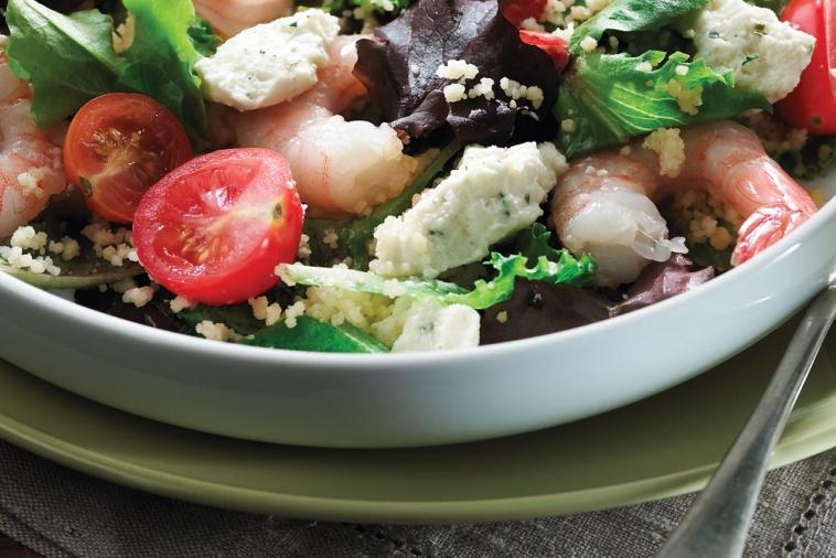 couscous salad with shrimp and boursin r