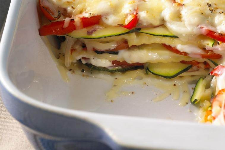 creamy three cheese vegetable lasagna cooking club size
