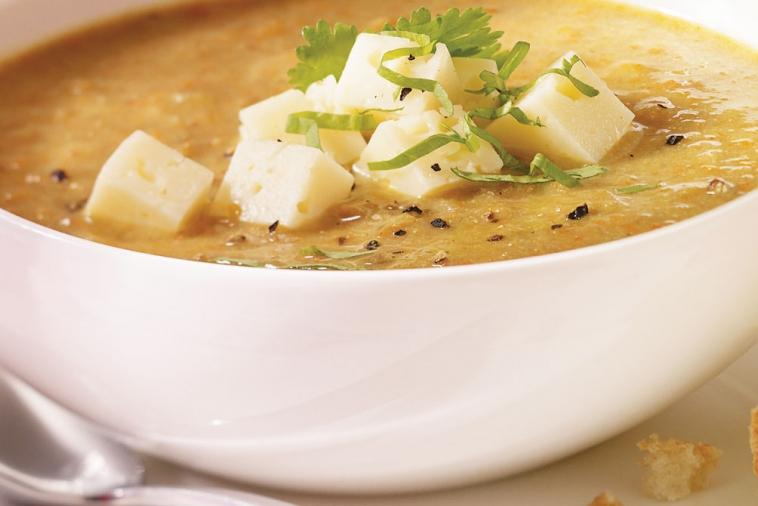 curried lentil soup with havarti cooking club size