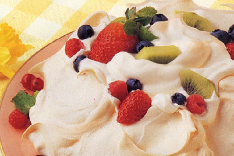 fresh fruit pavlova