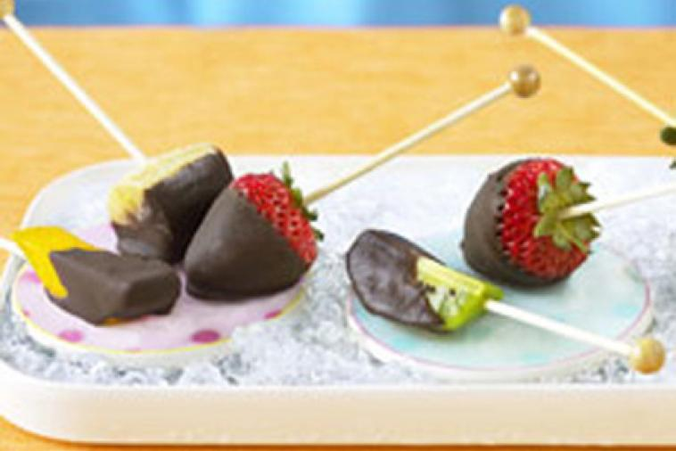 frozen chocolate fruitsicles