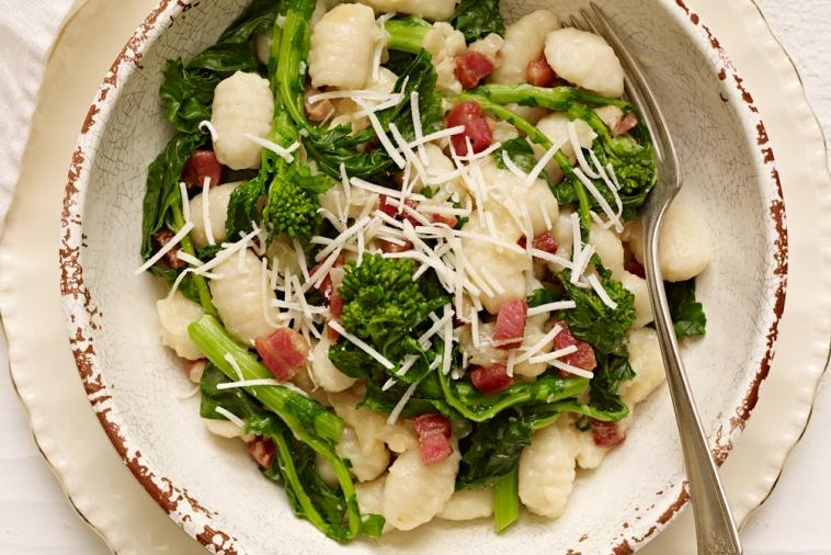 gnocchi with asiago rapini and pancetta