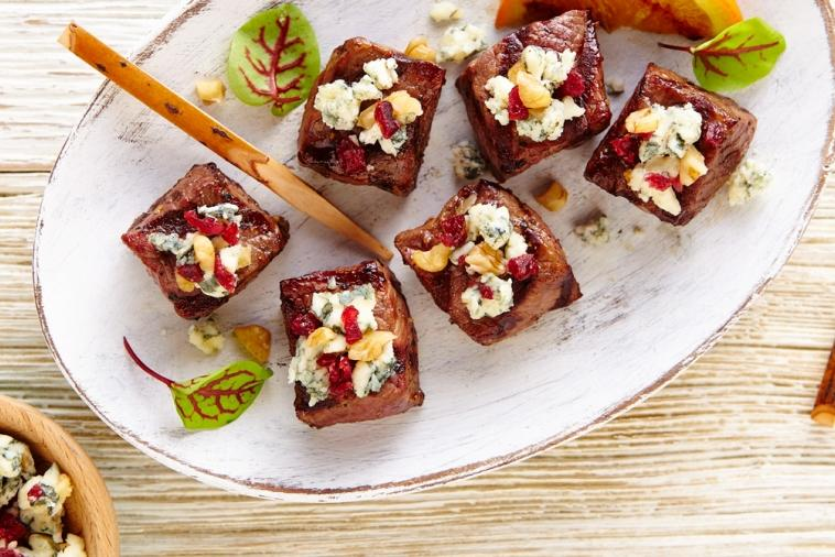 grilled beef blue cheese bites