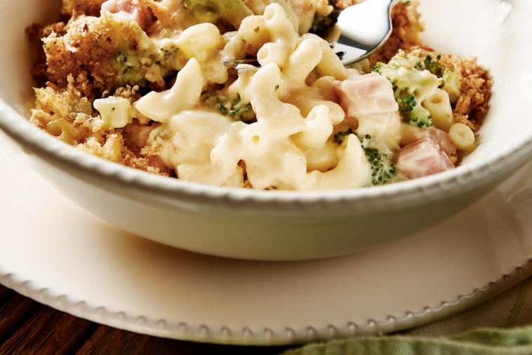 hearty ham broccoli macaroni and cheese