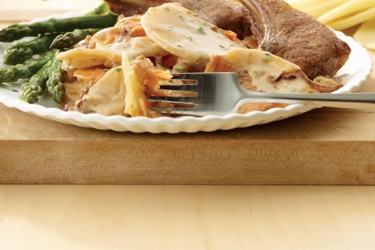 herb sweet onion scalloped potatoes