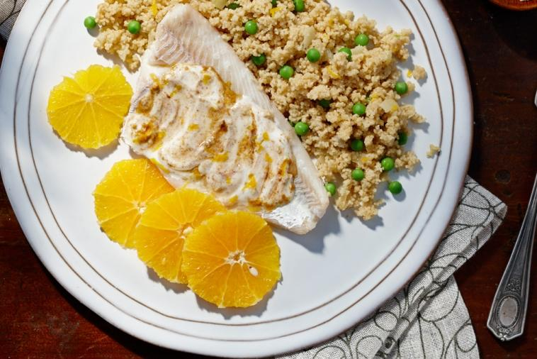 moroccan spiced fish and couscous