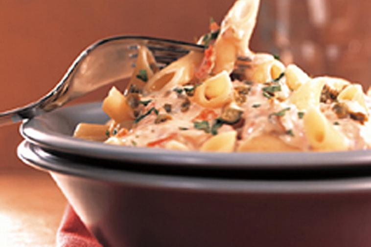 penne with smoked salmon and cream cheese cooking club size
