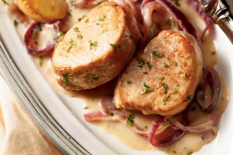 pork tenderloin with red onion compote
