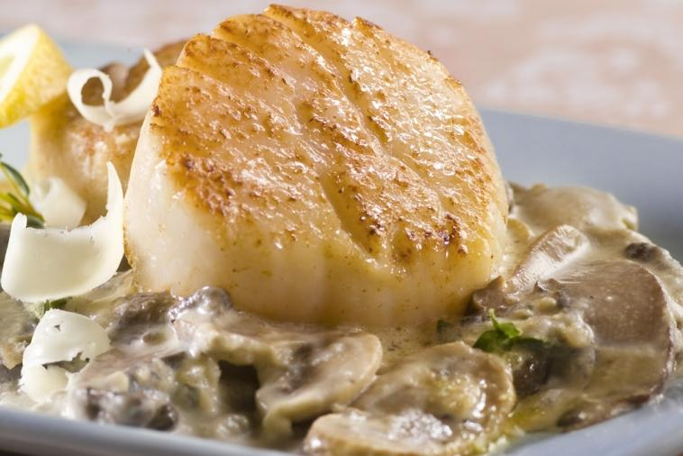 scallops with wild mushrooms and canadian whiskey cream
