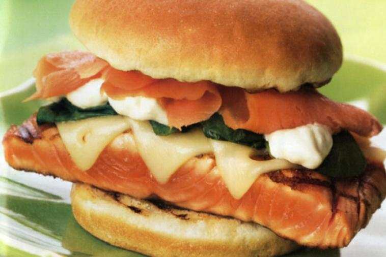 sensational salmon duo with swiss cheese