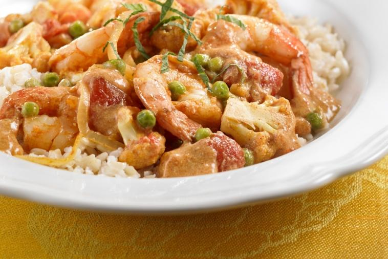 shrimp and cauliflower curry