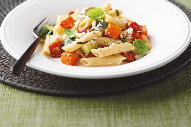 squash and feta penne rigate