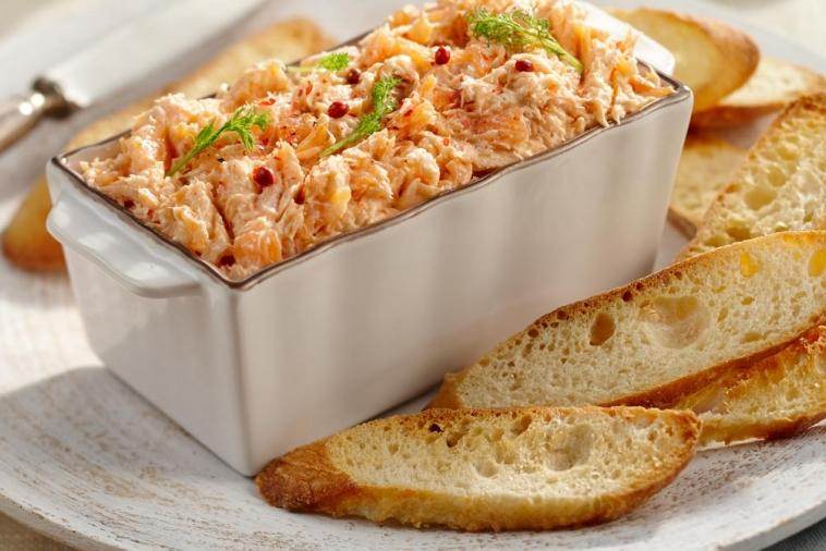 trout and salmon rillettes